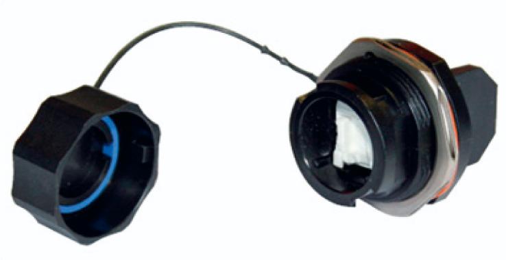 : Коннектор RJ45 промышленного назначения со степенью защиты IP67