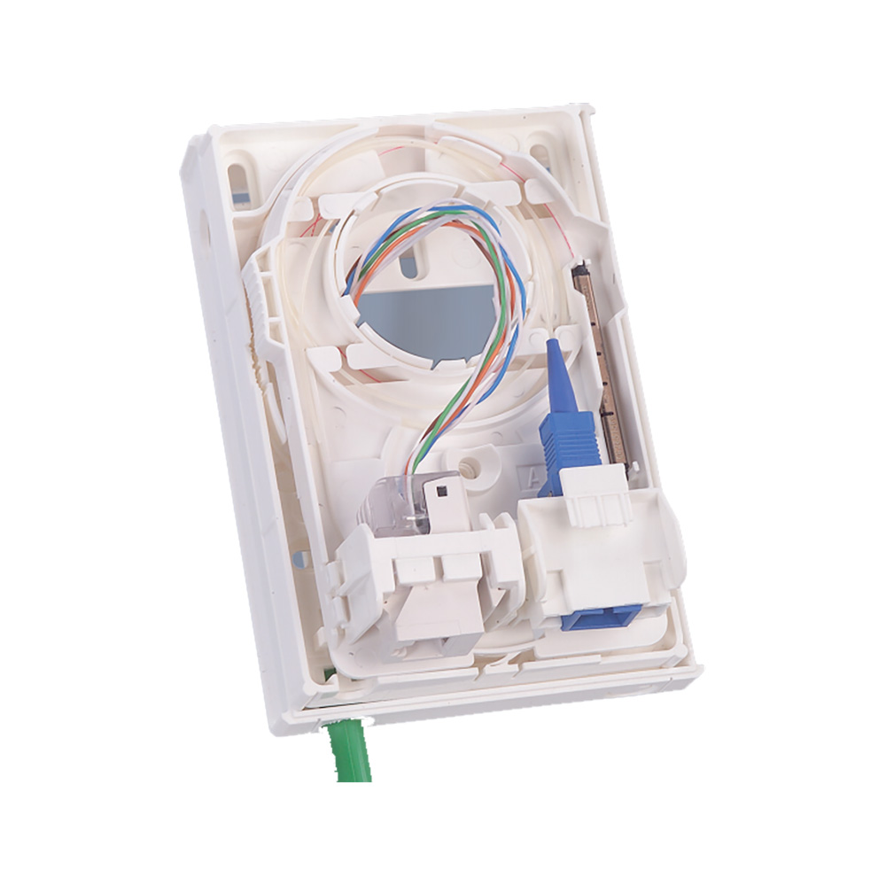 : CPWO. Абонентская гибридная оптическая настенная розетка для внутреннего монтаж