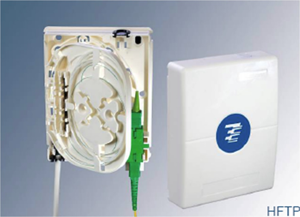 : HFTP. Компактная абонентская оптическая настенная розетка для внутреннего монтажа
