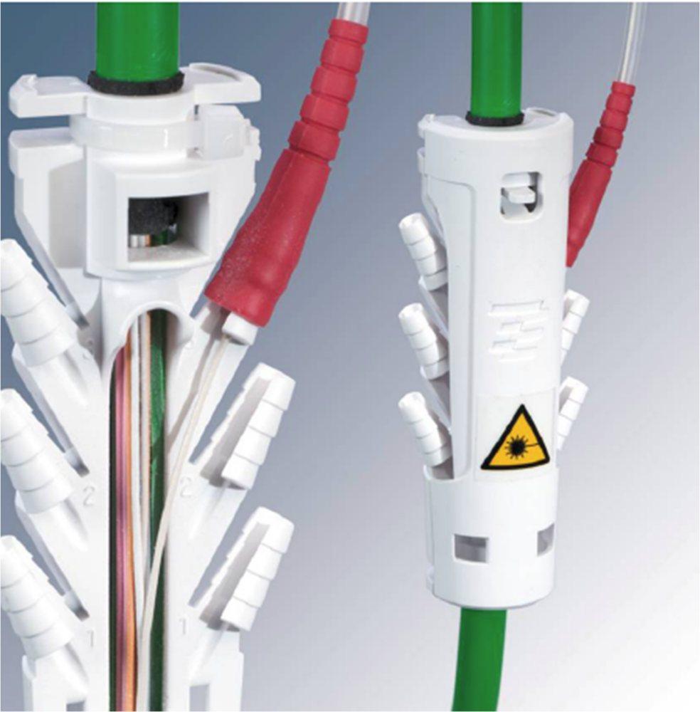 : Mini-Breakout. Вертикальный межэтажный кабель со свободными волокнами