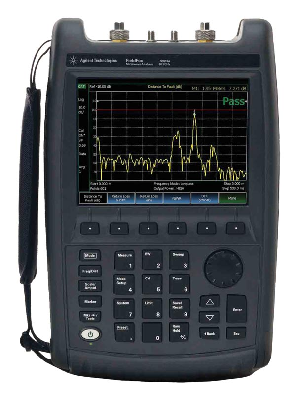 FieldFox N9915A : Портативный комбинированный СВЧ анализатор, 9 ГГц