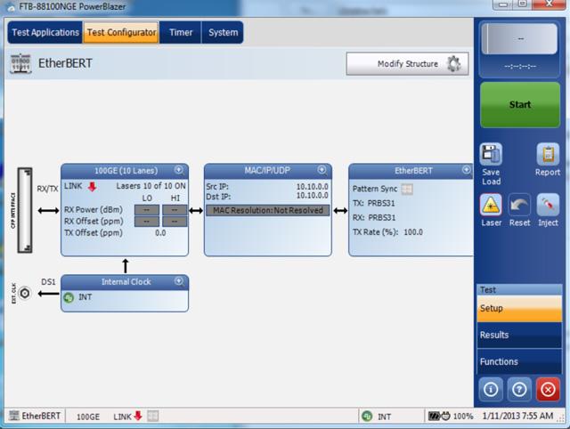 EXFO FTB-88100NGE PowerBlazer : Мультисервисный модуль анализатор 10M-100G
