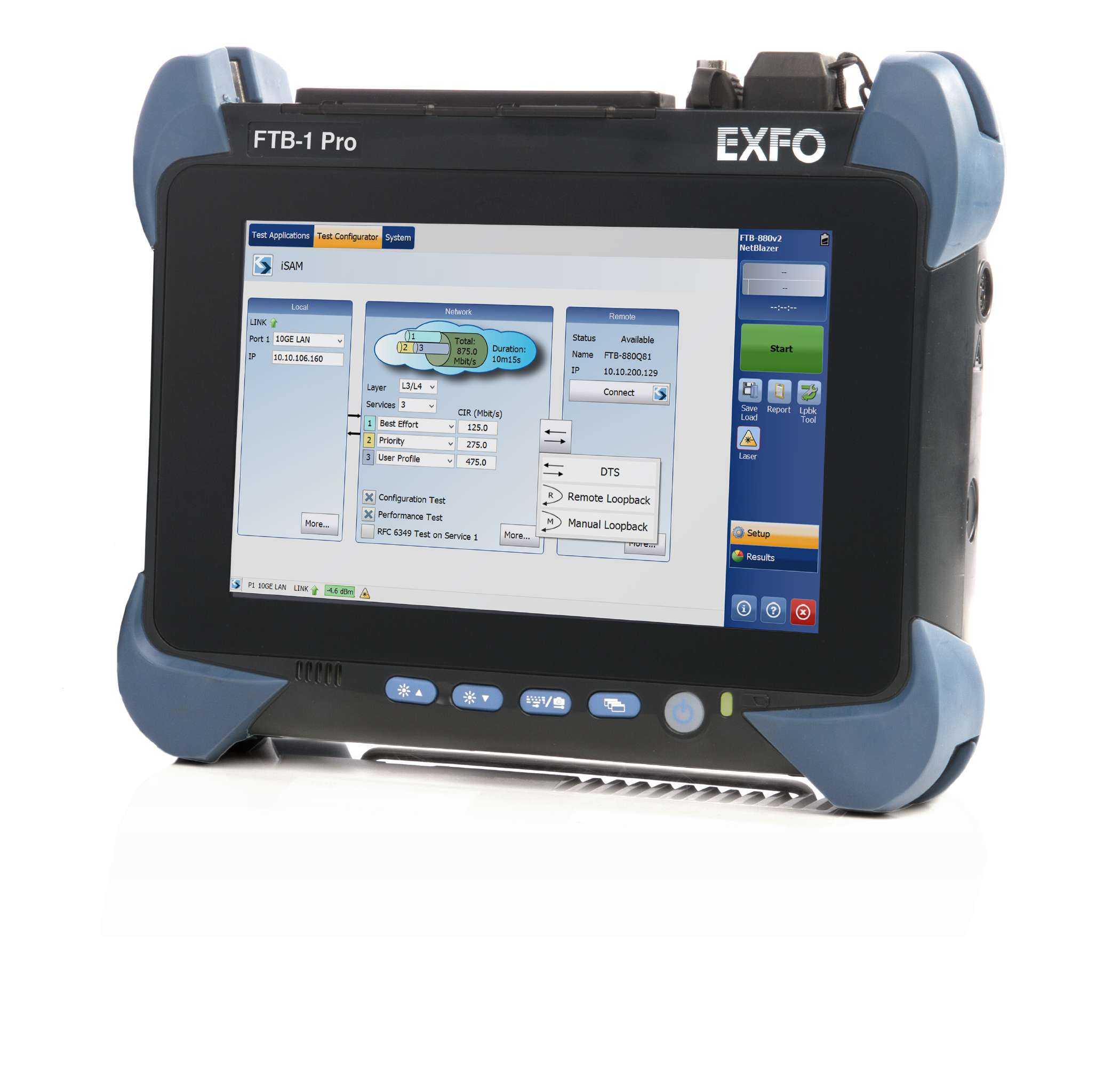 EXFO FTB-800v2 : Мультисервисный анализатор транспортных сетей