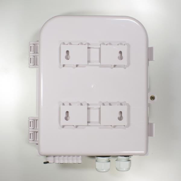 HTTB-X30B : Кросс оптический настенный с возможностью установки сплиттера 1x8 (FTTH-108)