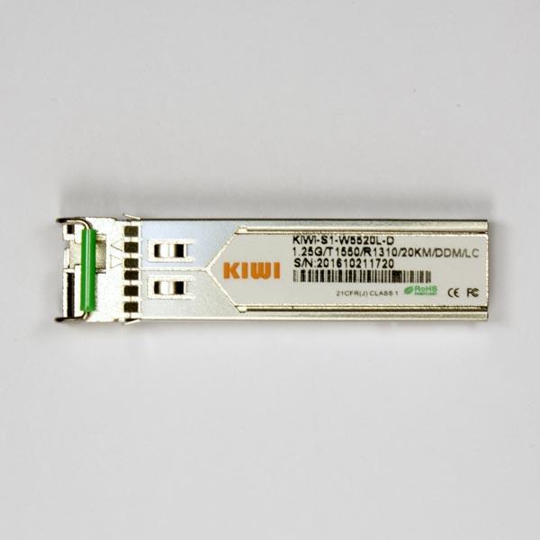 KIWI LC 20km T1550/R1310 DDM : Модуль SFP WDM 1,25G