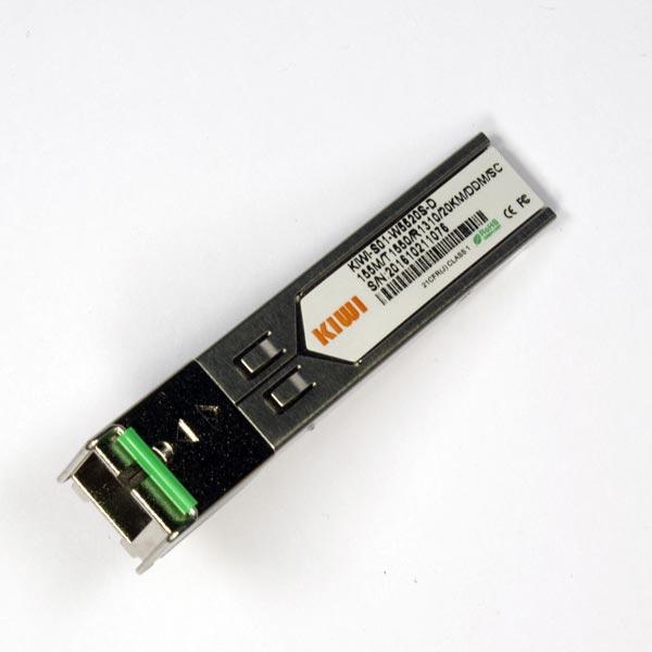 KIWI SC 20km T1550/R1310 DDM : Модуль SFP WDM 1,25G