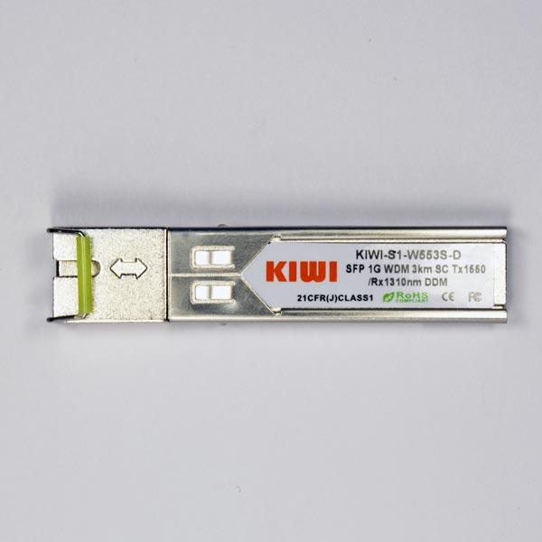 KIWI SC 3km T1550/R1310 DDM : МОДУЛЬ SFP WDM 1,25G